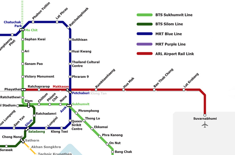 airport rail link map Airport Rail Link Bangkok Ticket Price Route Time Table airport rail link map