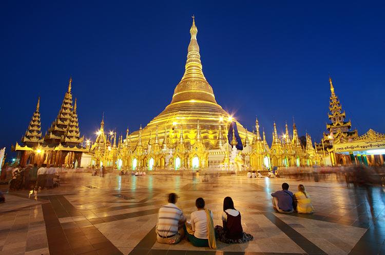 Shwedagon Pagoda - History of the gold plated diamond studded Shwedagon  pagoda