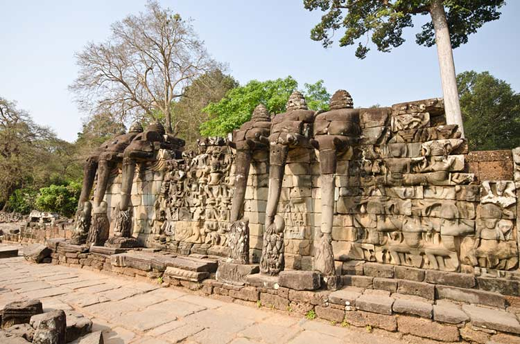Royal Terraces - Terrace of the Elephants & Terrace of the Leper King