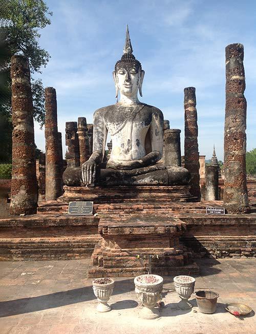 [Chia sẻ] Khám phá du lịch Đền Hoàng gia Wat Mahathat, Sukhothai, Thái Lan